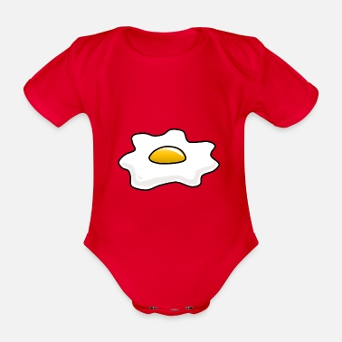 Egg Fried egg egg fried egg - Organic Short-Sleeved Baby Bodysuit