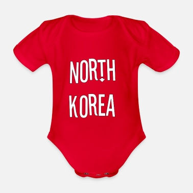 North Humberside North Korea - Organic Short-Sleeved Baby Bodysuit