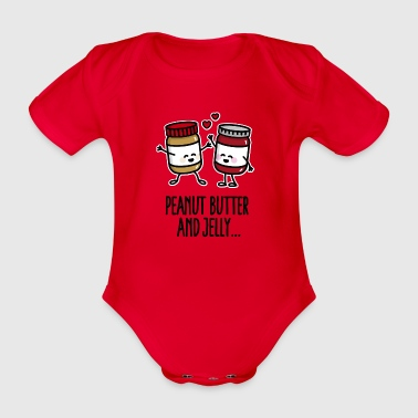 Peanut butter and jelly - Organic Short-sleeved Baby Bodysuit