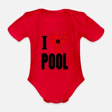 Pool pool - Organic Short-Sleeved Baby Bodysuit