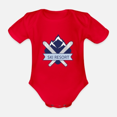 Ski Resort Ski Resort - Organic Short-sleeved Baby Bodysuit