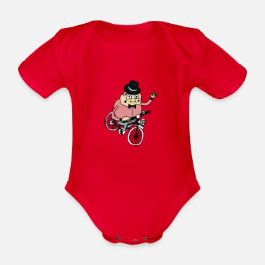 Biker by Cheslo - Organic Short-Sleeved Baby Bodysuit