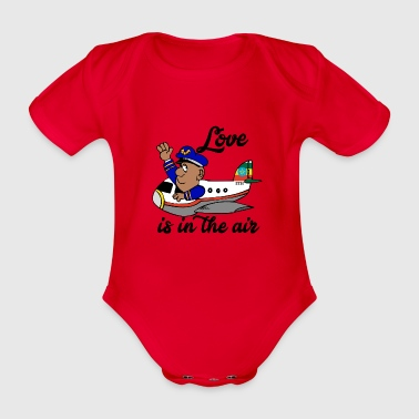 Ethiopia Ethiopia ኢትዮጵያ Holiday Airplane - Organic Short-sleeved Baby Bodysuit