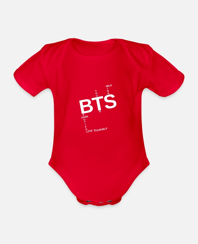 Heart Baby Bodysuits - Be the shirt 2 - Organic Short-Sleeved Baby Bodysuit red