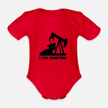 Oil Exploration pumping - Organic Short-Sleeved Baby Bodysuit