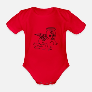 Angel affectionate angels angel angels angels angels ang - Organic Short-Sleeved Baby Bodysuit