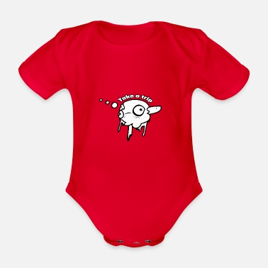 Trippy trippy - Organic Short-Sleeved Baby Bodysuit