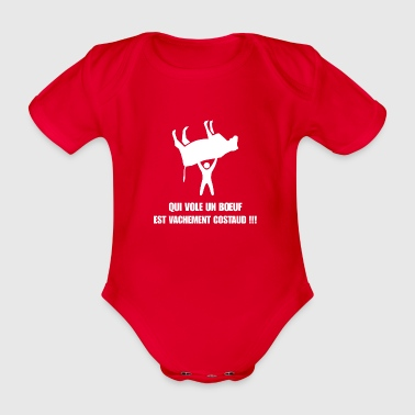 Humor fitness proverbs expression funny fun gym - Organic Short-sleeved Baby Bodysuit