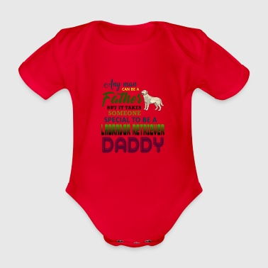 Every human being can be a father, but it always takes - Organic Short-sleeved Baby Bodysuit