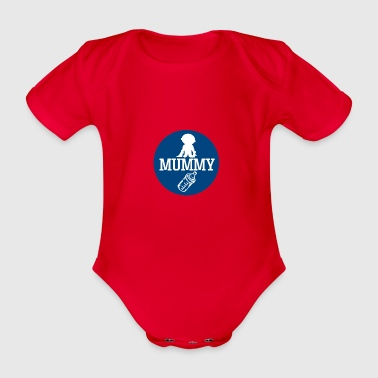 pregnant baby child born birth gift idea - Organic Short-sleeved Baby Bodysuit