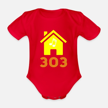 303 s - Organic Short-Sleeved Baby Bodysuit