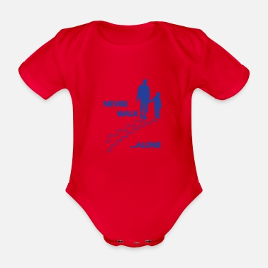 Father And Son father and son - Organic Short-Sleeved Baby Bodysuit