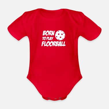 Born To Play Floorball - Body ecologico per neonato a manica corta