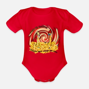 Majo Majo Vs. Ketchup - Organic Short-Sleeved Baby Bodysuit