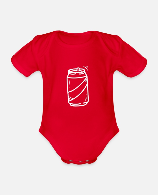Water Baby Bodysuits - drink - Organic Short-Sleeved Baby Bodysuit red