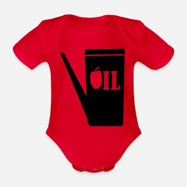 Container container for oil_g1 - Organic Short-Sleeved Baby Bodysuit