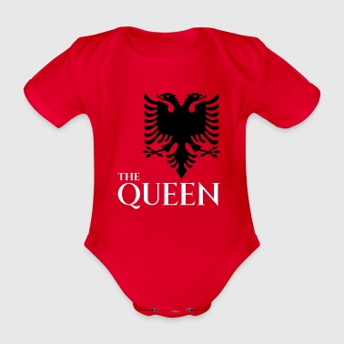 the queen of albania shirt albanian t-shirt - Organic Short-sleeved Baby Bodysuit
