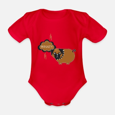 What What ?! What?! - Organic Short-Sleeved Baby Bodysuit