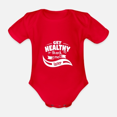 Healthy Healthy - Organic Short-sleeved Baby Bodysuit