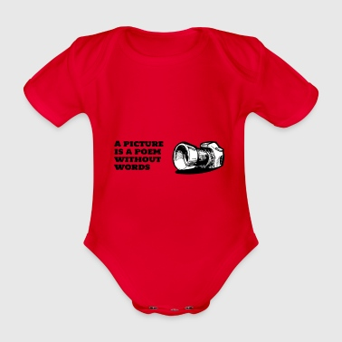 A picture is a poem without words - Organic Short-sleeved Baby Bodysuit