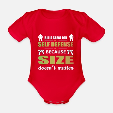Fight Jiu jitsu BJJ Martial arts Funny Gift - Organic Short-Sleeved Baby Bodysuit