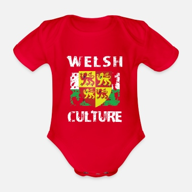 Welsh Culture - Organic Short-Sleeved Baby Bodysuit