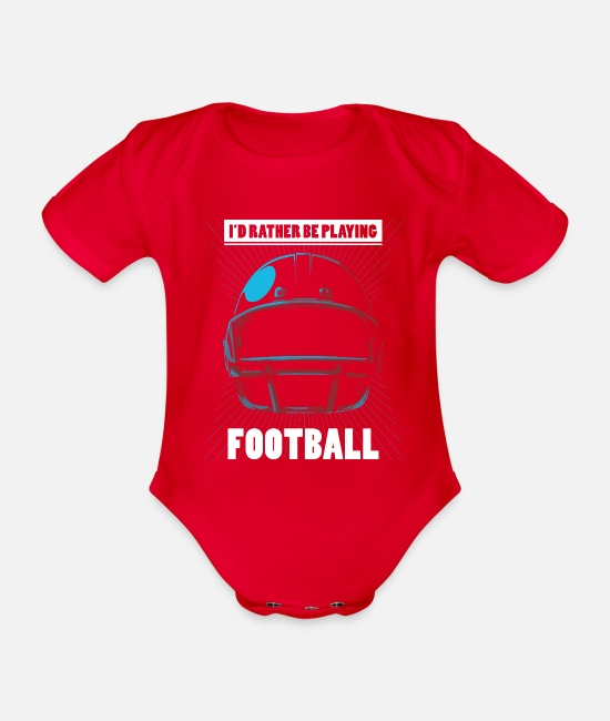Stadium Baby Bodysuits - Football American rugby - Organic Short-Sleeved Baby Bodysuit red