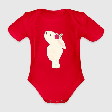 Baby & Kids Bunny Design - Organic Short-sleeved Baby Bodysuit
