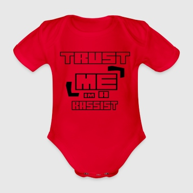 Trust ME at A BASSIST - Organic Short-sleeved Baby Bodysuit
