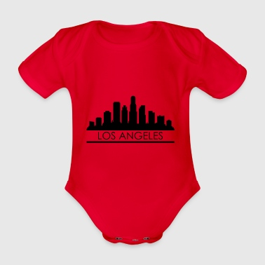Skyline von Los Angeles - Baby Bio-Kurzarm-Body