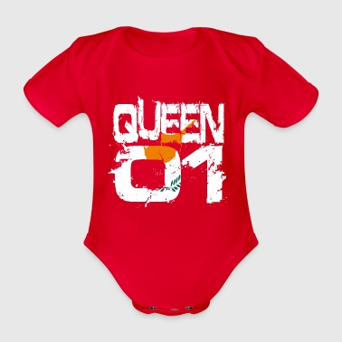 Gift Queen 01 Country Partner Cyprus - Organic Short-sleeved Baby Bodysuit