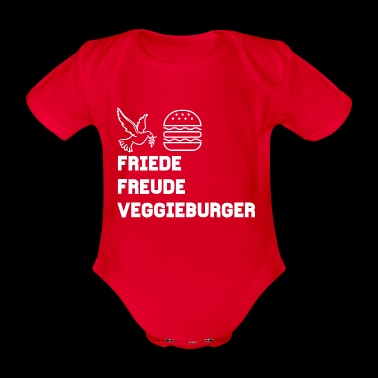 Peace Joy Veggie Burger! Le design! - Body bébé bio manches courtes