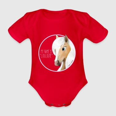 My name is LOULOUTE - Mare (Cl) - Organic Short-sleeved Baby Bodysuit