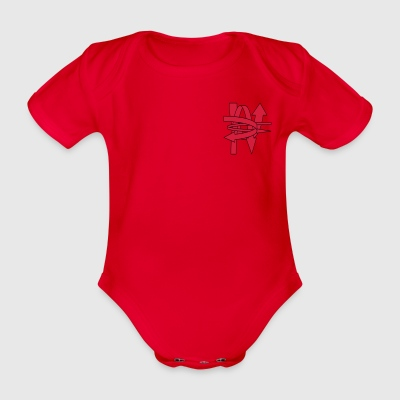 arrow - Organic Short-sleeved Baby Bodysuit