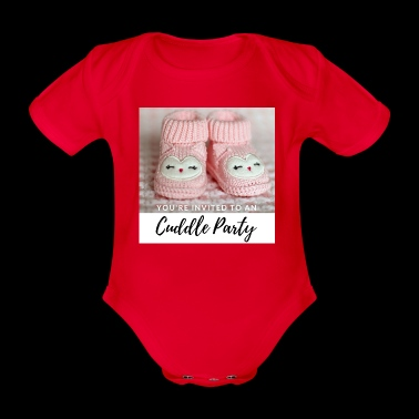 INVITED - CUDDLE PARTY pink - Ekologisk kortärmad babybody