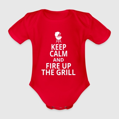 Fire up the grill - Organic Short-sleeved Baby Bodysuit