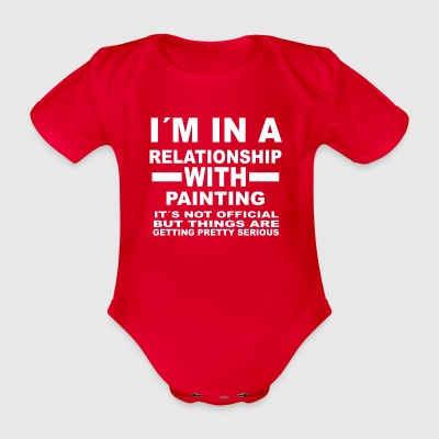 Relationship with PAINTING - Organic Short-sleeved Baby Bodysuit