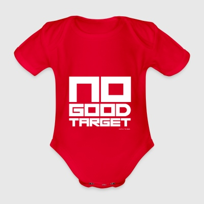 NO GOOD TARGET - Organic Short-sleeved Baby Bodysuit