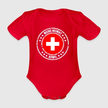 MY HEIMAT UZWIL - Organic Short-sleeved Baby Bodysuit