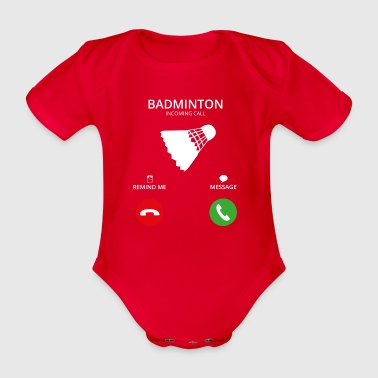 Call Mobile Call badminton - Organic Short-sleeved Baby Bodysuit