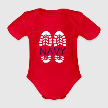 Navy *BEST SELLER* - Organic Short-sleeved Baby Bodysuit