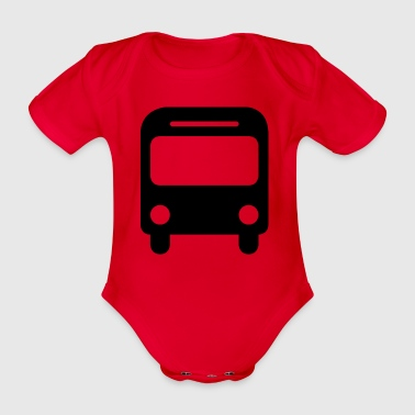 bus - Organic Short-sleeved Baby Bodysuit