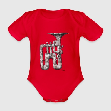 failed Enillo musical instrument - Organic Short-sleeved Baby Bodysuit