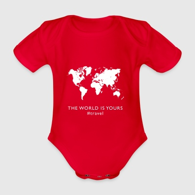 THE WORLD IS YOURS #travel - Baby Bio-Kurzarm-Body