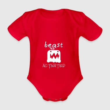 Monster mode activated - beast mode activated - Organic Short-sleeved Baby Bodysuit