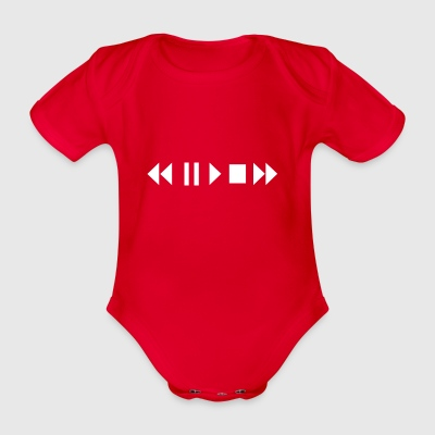 Play Pause Rewind - Organic Short-sleeved Baby Bodysuit