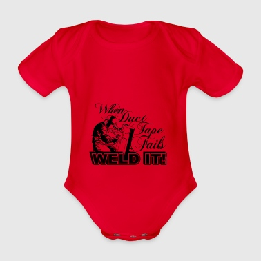 weld it - Organic Short-sleeved Baby Bodysuit