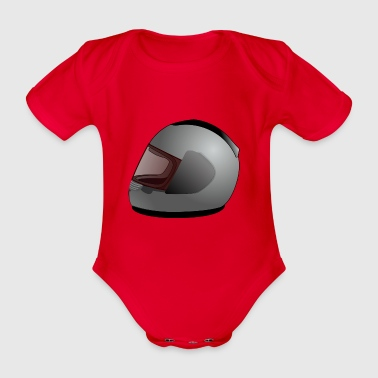 motorcycle helmet - Organic Short-sleeved Baby Bodysuit