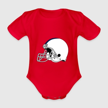 Football helmet - Organic Short-sleeved Baby Bodysuit
