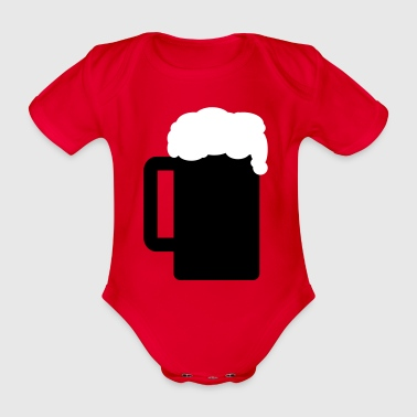 Beer glass 2c - Organic Short-sleeved Baby Bodysuit